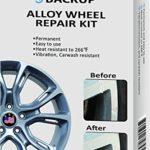 Backup Alloy Wheel Repair Kit Restoration Tools Fix Scratches, Slight Dents, Chip, Curb Damages, Sanding Marks, Installation Damages, Heat Resistant to 266°F, Vibration Resistant, Carwash Resistant