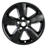 2013 2014 2015 Dodge RAM 1500 20″ Black Wheel Skins / Hubcaps (Set of 4). FIT 20″ ALLOY Wheels ONLY!